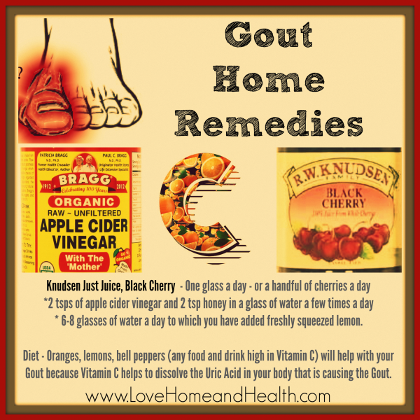 Natural Cures For Foot Gout