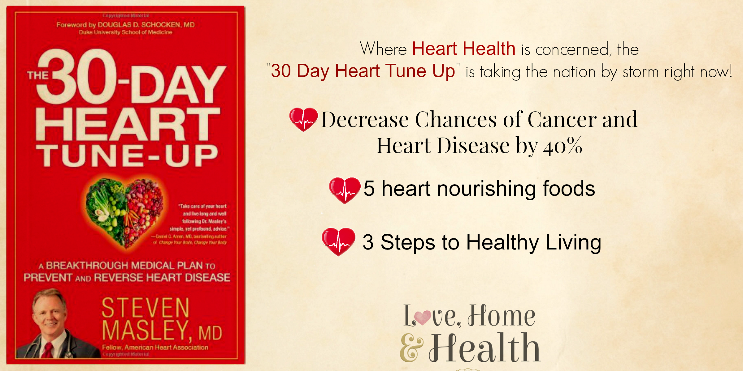 30 day heart tune up kickstarting heart health love home and health. Black Bedroom Furniture Sets. Home Design Ideas