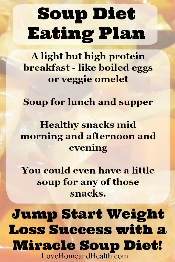 Soup Diet Eating Plan - Love Home and Health
