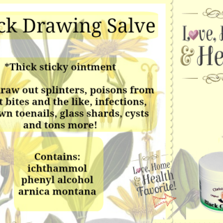 Dr. Christopher's Black Drawing Salve WORKS!