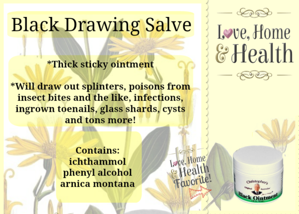 Black Drawing Salve @ www.LoveHomeandHealth.com