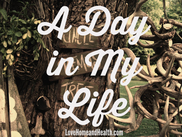 A Day in My Life at www.LoveHomeandHealth.com