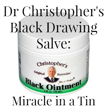 Dr Christopher's Black Drawing Salve Miracle in a Tin 2