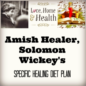 """Solomon Wickey's Specific Healing Diet Plan - love, home and health"""
