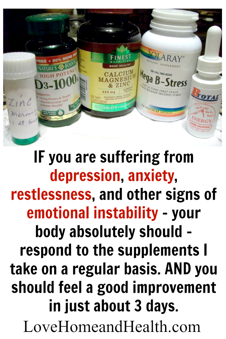 Natural Treatment for Depression and Anxiety - Love Home and Health