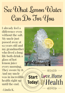 A Testimonial:  See What Lemon Water Can Do For You