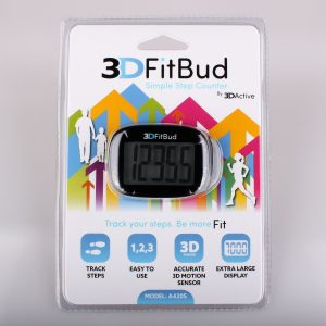 3D FitBud Pedometer - simple digital step counter - Love, Home and Health