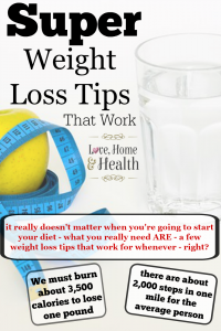 4 Super Weight Loss Tips That Work