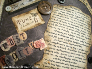 kitchen witch junk journal - love home and health